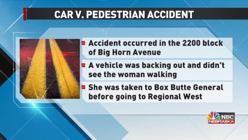 Update: Pedestrian v  Car Accident in Alliance
