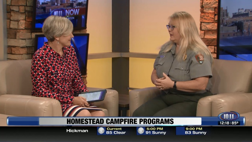 Campfire programs at Homestead