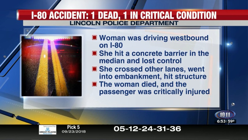 Police to release the name of woman killed in I-80 accident