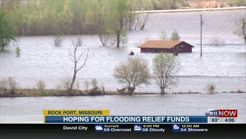 Rock Port, Missouri hoping for flood relief