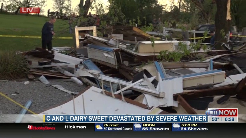 Severe weather levels Dairy Sweet in Lincoln