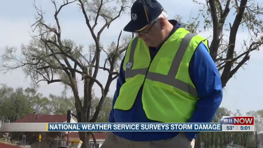 National Weather Service surveys storm damage