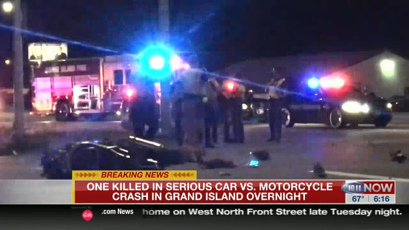 Man dead after motorcycle crash in Grand Island