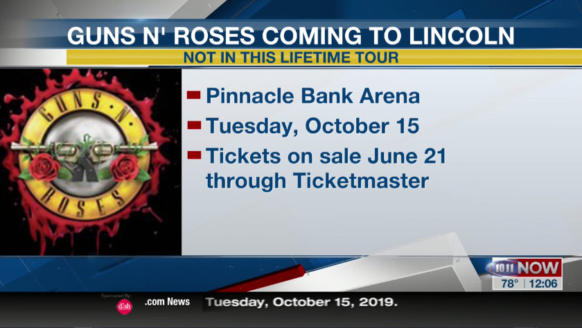 Guns N' Roses coming to Lincoln this fall