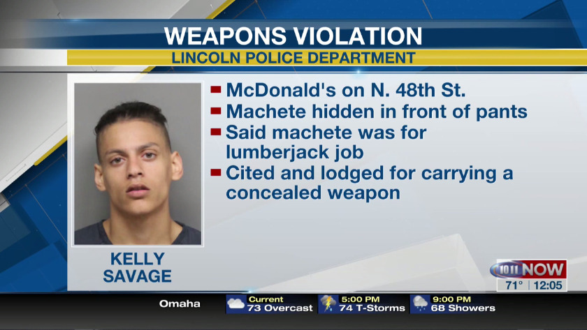 Man brings machete to McDonald's