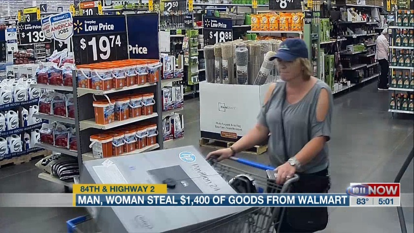 Crime Stoppers: $1,400 Goods from Walmart