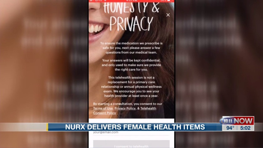 Nurx delivers female health items