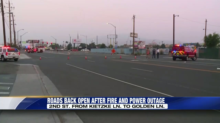 2nd and Kietzke back open after fire and power outage