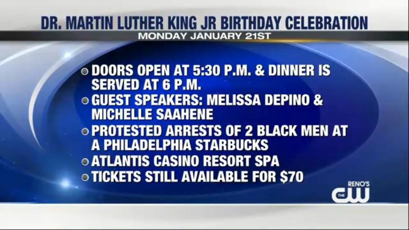 31st MLK Jr  birthday celebration dinner is Monday at Atlantis