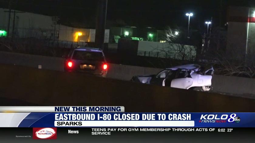 Crash on I-80 in Sparks
