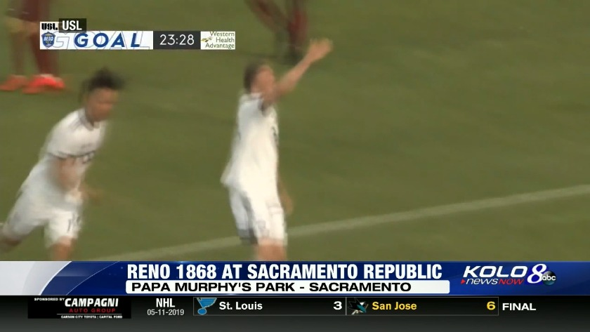 Reno 1868 climbs into second place with 4-1 win over Sacramento