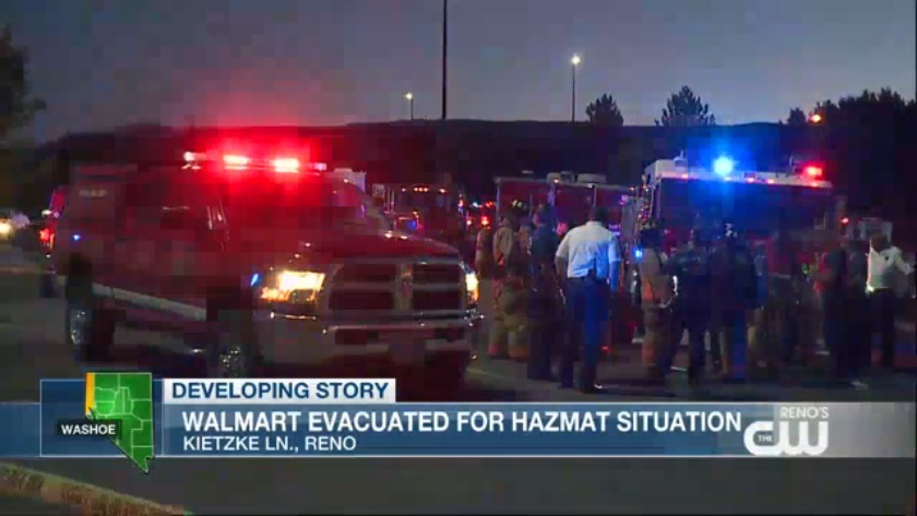 Hazmat situation over at Reno Walmart