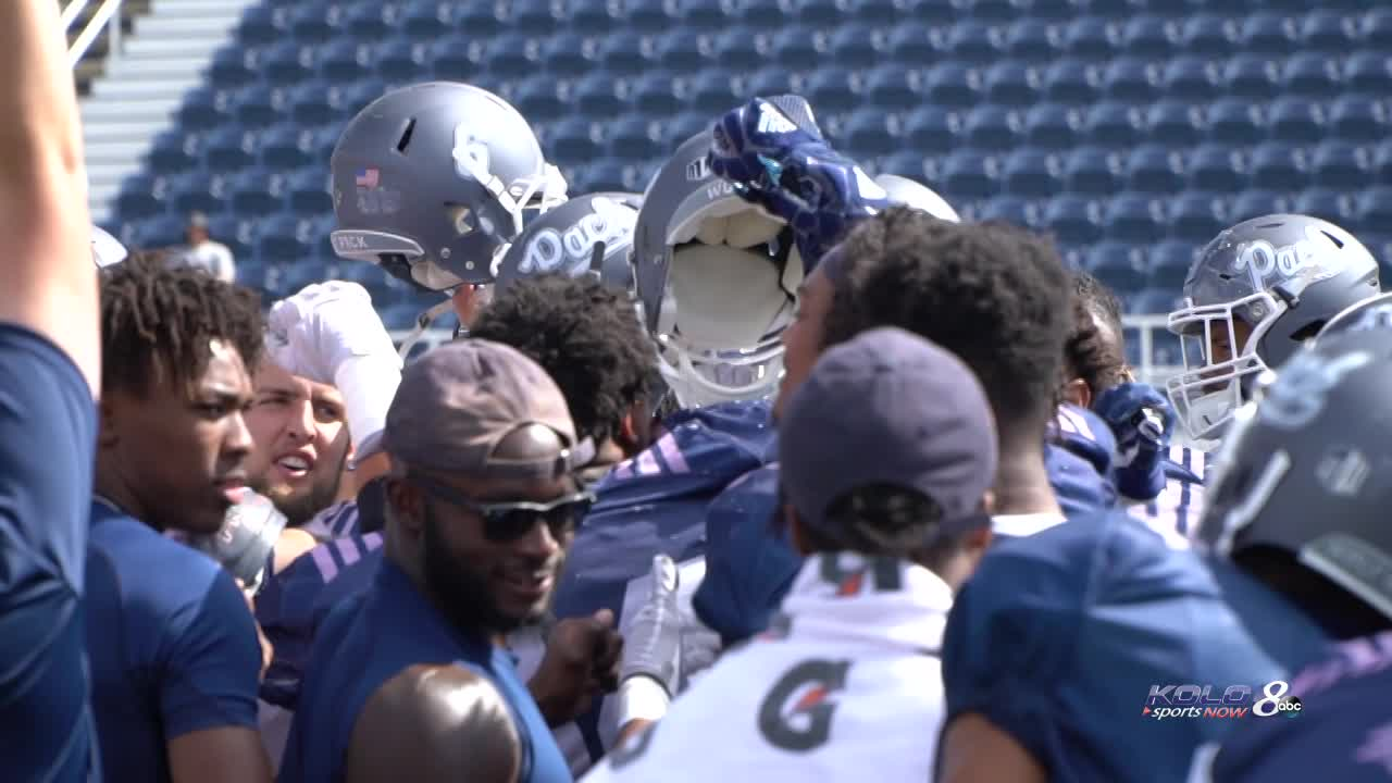 promo code 79931 5d6a5 Wolf Pack football holds first live scrimmage