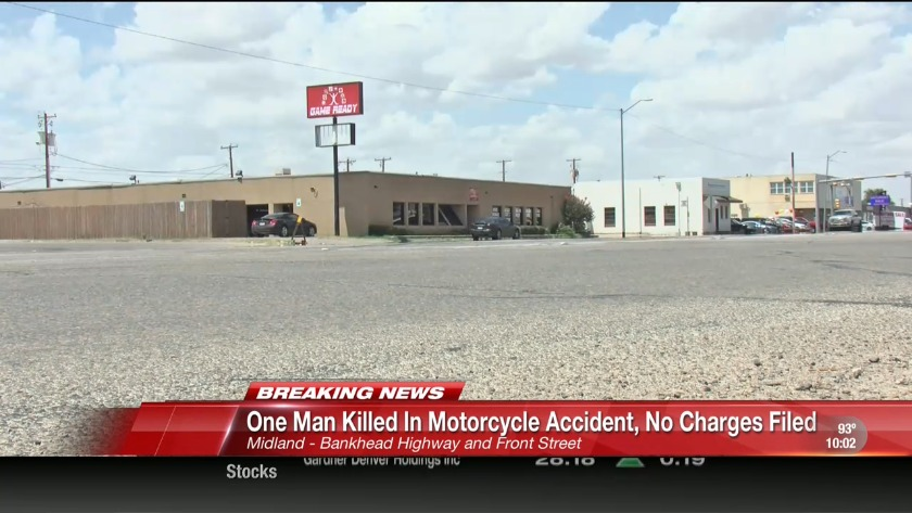 One person killed in Midland motorcycle crash