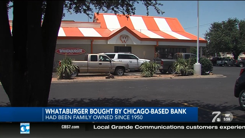 Majority ownership of Whataburger acquired by Chicago-based bank
