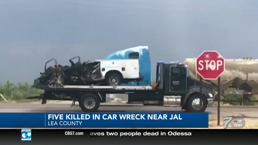 Five Killed in Wreck Outside Jal