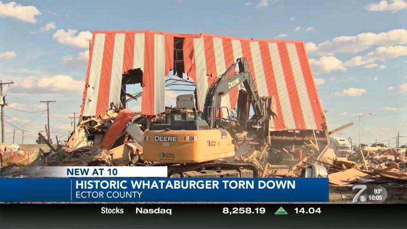 Historic Odessa Whataburger torn down