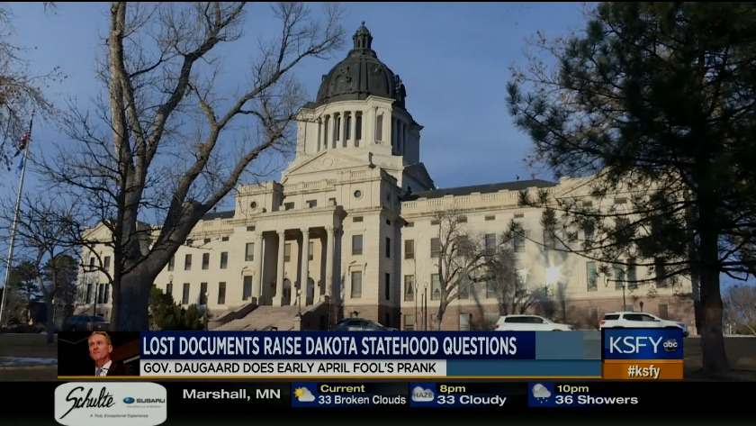 Gov  Daugaard makes early April Fool's joke about Dakota