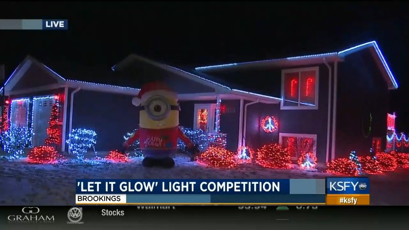 brookings first annual let it glow light competition