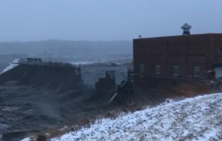 Spencer Dam breaks on Niobrara River in Nebraska