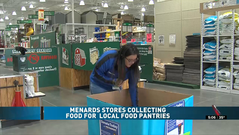 Menards Is Collecting Food For Local Food Pantries