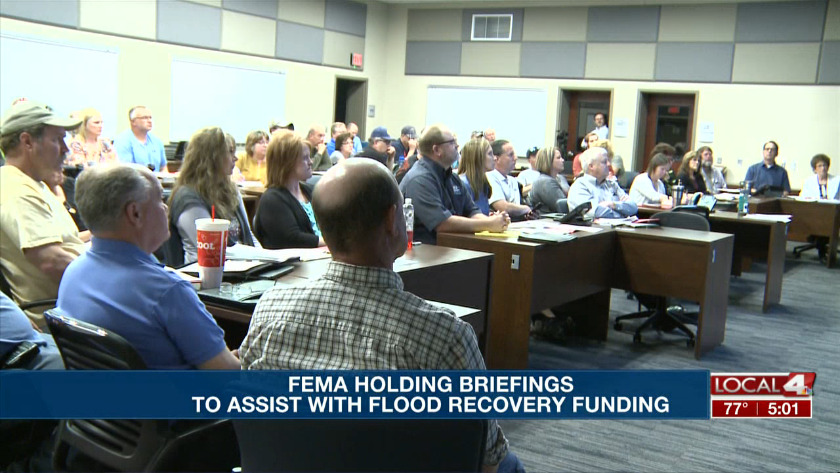 FEMA is having meetings to show public entities how to apply
