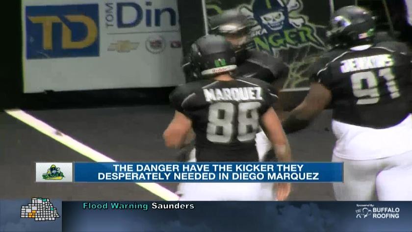 Diego Marquez thriving as Danger kicker
