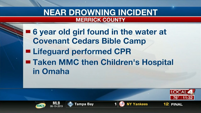 Near drowning incident at area bible camp