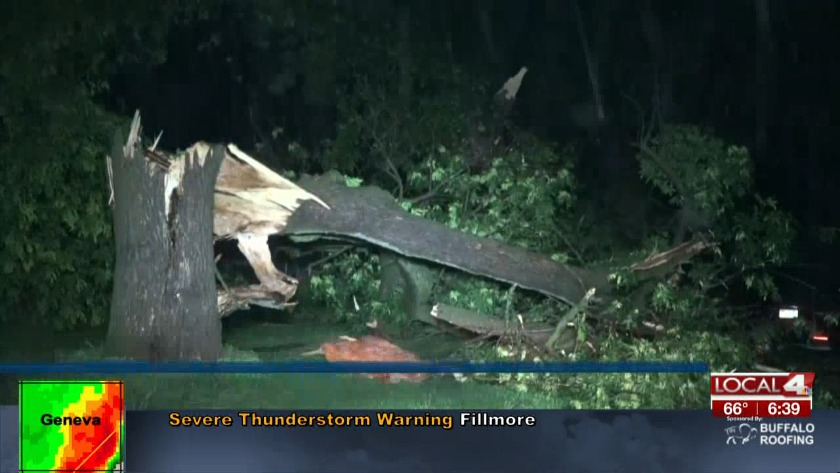 Severe storms overnight lead to power outages, damage