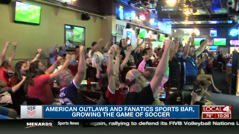 American Outlaws and Fanatics Sports Bar, a match made in
