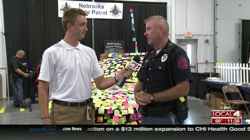 NSP spreading positivity with sticky notes