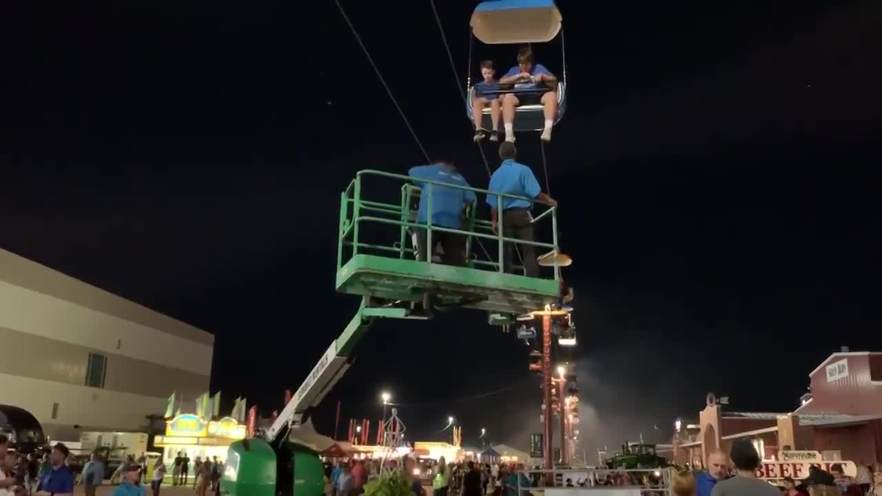 Sky Tram stops at Nebraska State Fair