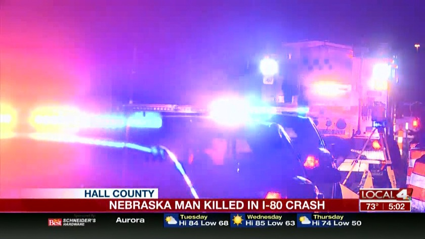 Nebraska man killed in Hall County crash