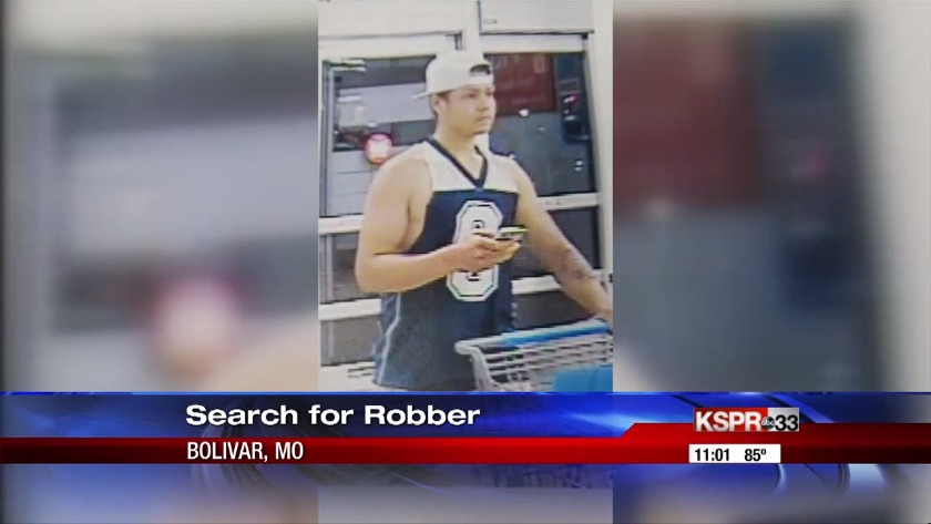 Police in Bolivar, Mo  search for suspected armed robber