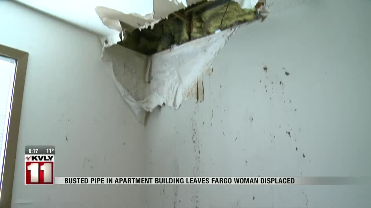 News: Burst pipe leaves Fargo woman displaced