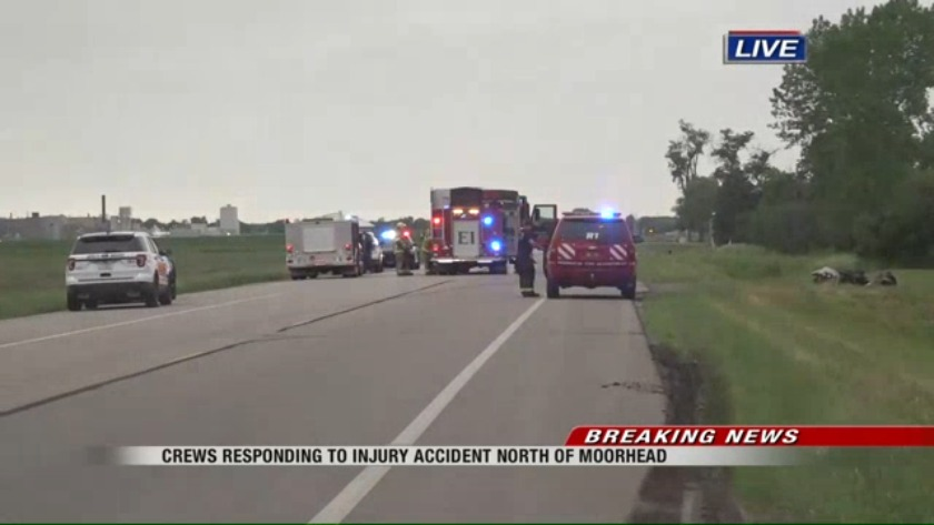 Update: One person died after rollover accident near Moorhead