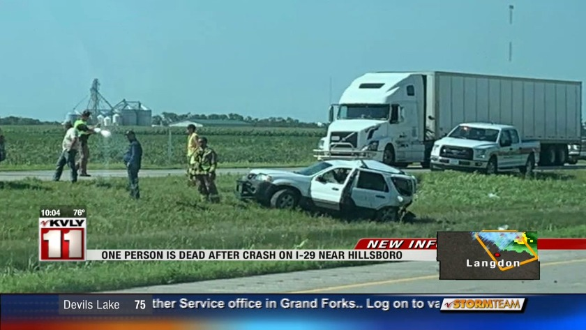 UPDATE: Man killed in crash on I-29, other driver in the hospital