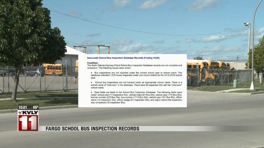Fargo public school bus inspection records reveal several