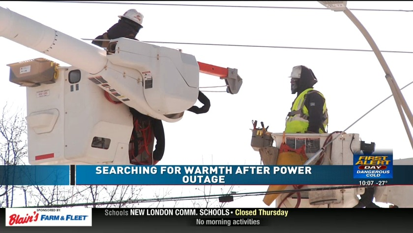 Power outage in Sterling has people leaving home to stay warm