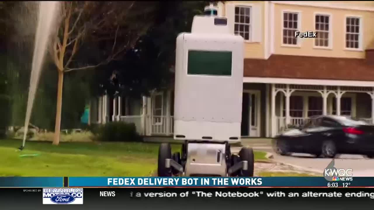 FedEx delivers by Bot