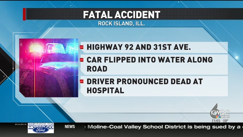 One dead after crash in Rock Island County