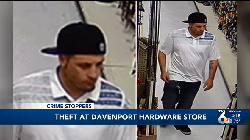 Police searching for suspect who stole from K & K Hardware