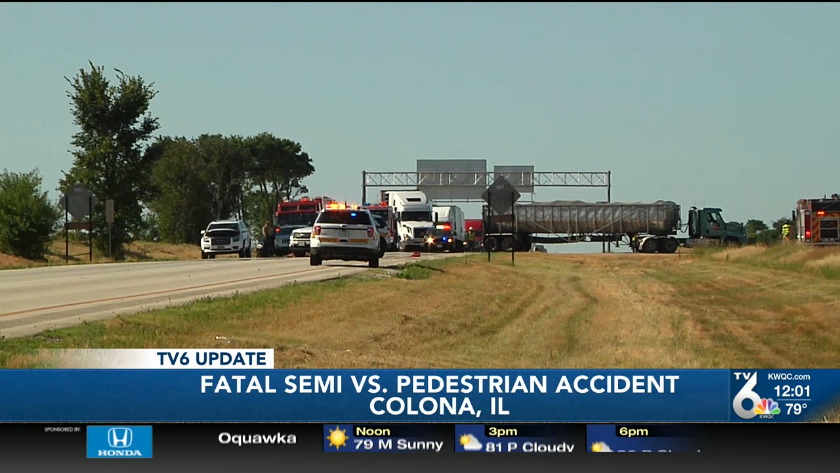 Man killed after being hit by two semis identified as Bettendorf