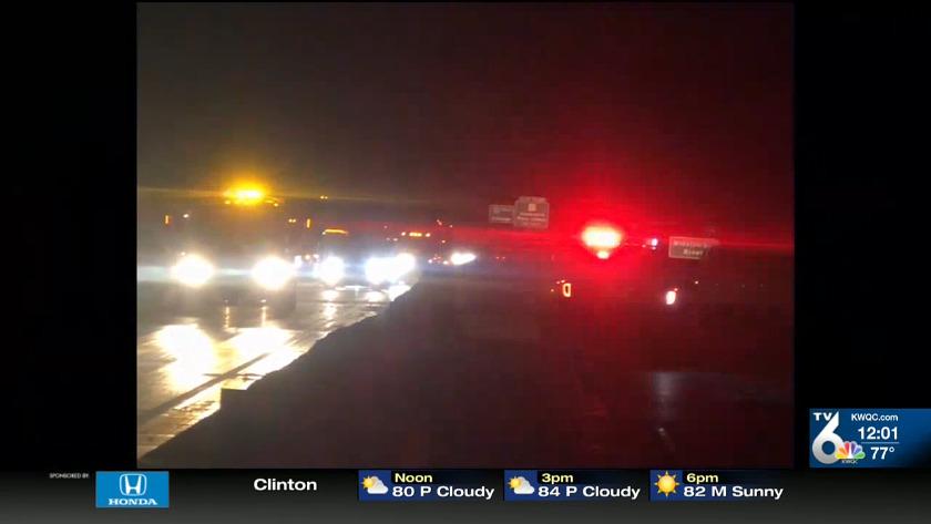 Police investigating crash on Iowa-bound I-280