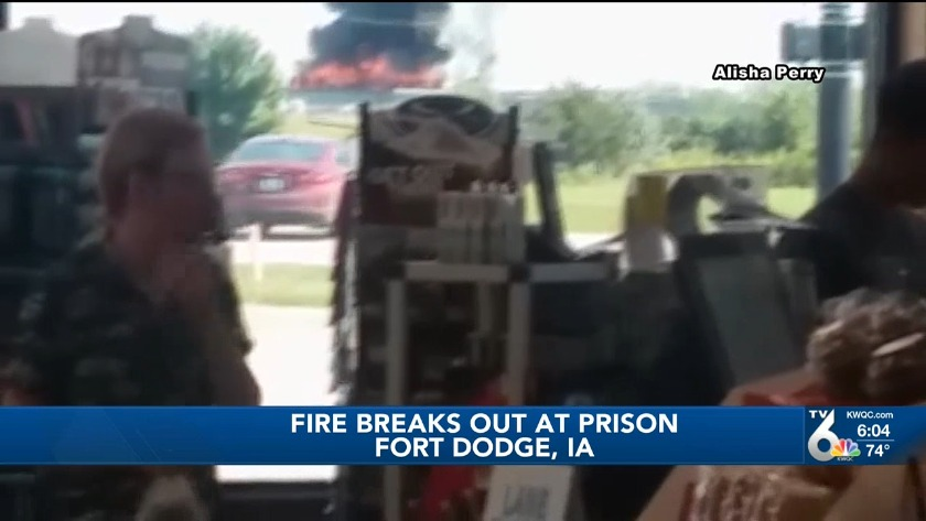 Firefighters battle fire at Fort Dodge Correctional Facility