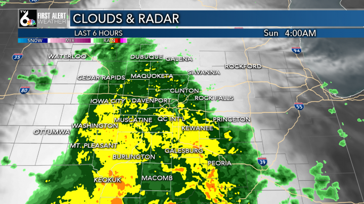Moderate to Heavy Rain This Morning