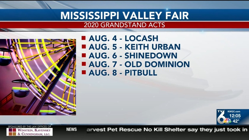 Mississippi Valley Fair 2020 Lineup.The 2020 Lineup For The Mississippi Valley Fair Grandstand