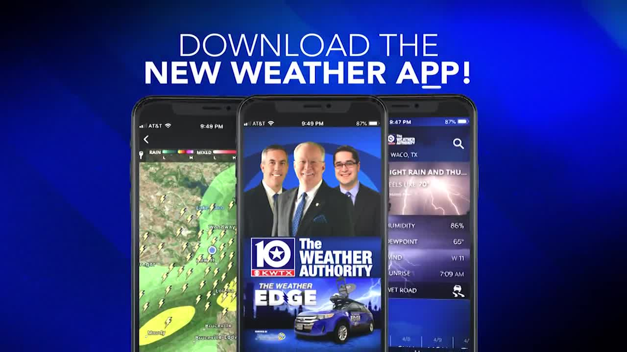 Download the FREE KWTX Weather App!