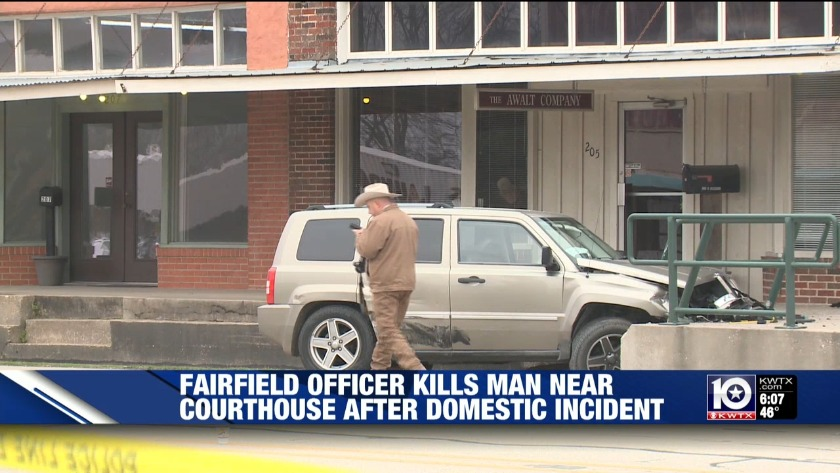 Officer kills man near area courthouse after domestic incident