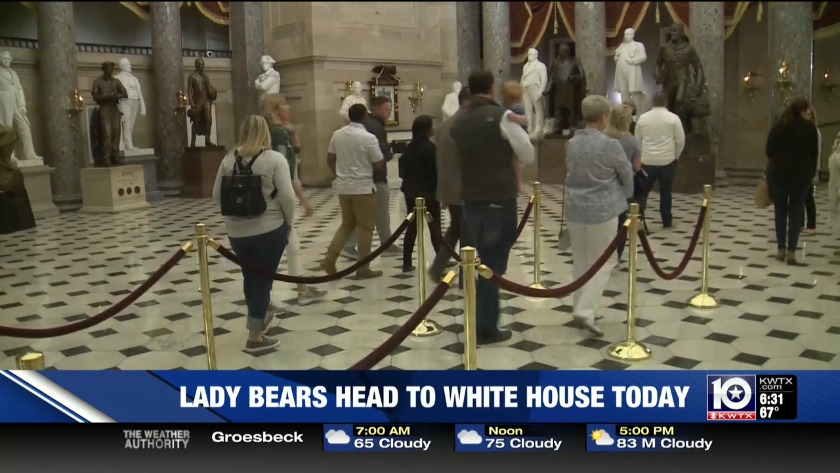 Lady Bears visit the Oval Office